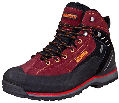 GUGGEN Mountain PM020 Damen Herren Trekking-& Wanderstiefel Wanderschuhe Trekkingschuhe Outdoorschuhe wasserdicht mit Membran und Wildleder Farbe Rot EU 43