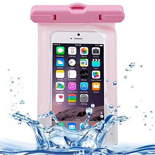 Wkae Case & Cover avec un cordon de protection transparent sac imperméable pour iphone 6 / 5 / 5 / 5 ( Color : Green ) Rose