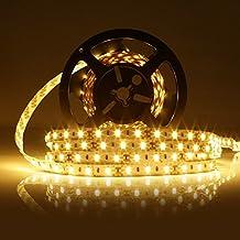 LEDMO Striscia LED, SMD5630-300led 5 metri bianco caldo 2700K DC12V IP20 non impermeabile 25LM/LED, 2 volte la luminosità di SMD5050 LED striscia luminosa a LED Light Strip , kit completo include alimentazione 12V 5A.