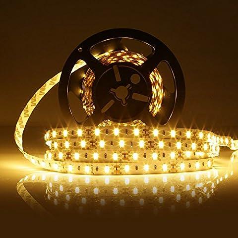LEDMO KIT Ruban LED,DC12V SMD 5630-300LEDs Ruban LED,IP20 Non-étanche 2700K Blanc Chaud Bande Lumineuse LED,300LEDs,Pack avec Bande LED 5M et Transformateur 12V 5A.