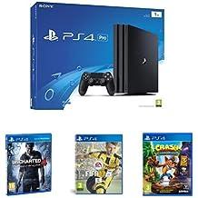 PS4 Pro 1 TB + Uncharted 4 + FIFA 17 + Crash