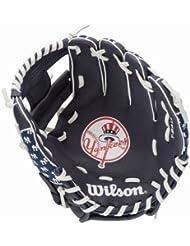 Wilson A302 Nyy Gant de baseball pour gaucher Junior Noir