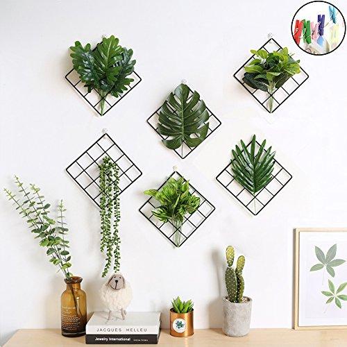Piccole dimensioni multifunzione photo display metal mesh wire griglia pannello con 20clip per collage artworks, cornice da appendere, decor–set di 1 1 set