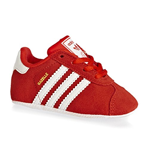 adidas Gazelle, Sneakers Basses Mixte Enfant, Cblack/Ftwwht/Goldmt Rouge (Core Red/ftwr White/gold Metallic)