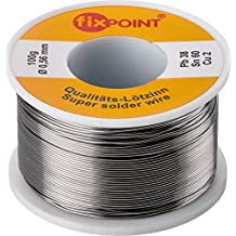 Fixpoint 51062 - Hilo de estaño para soldar, plata