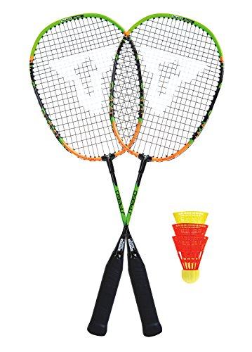 Talbot Torro Speed Badminton Set im 3/4 Bag, Black/Orange, 490102