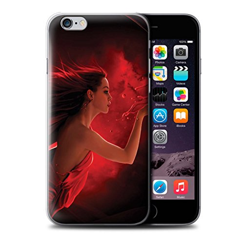 Officiel Elena Dudina Coque / Etui pour Apple iPhone 6S / Baiser de Lune Design / Un avec la Nature Collection Éclaboussure Rouge
