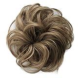 PRETTYSHOP Haarteil Haargummi Hochsteckfrisuren unordentlicher Dutt leicht gewell. Farbe: dunkelblond G9B