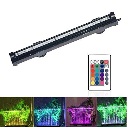 20-88 cm Aquarium-Fisch-Behälter-Lichter LED-tauchfähige wasserdichte RGB-Luftblasen-Lichter 16 Farbe 5050 LED-Fernsteuerungs-Farben-ändernde , (Transformatoren Halloween)