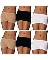 6er Pack Damen Pantys Unterwäsche Hot Pants Dessous Hipster Boxershorts