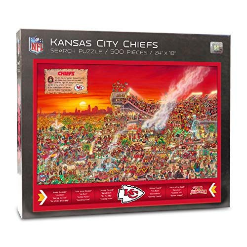 Joe Journeyman 9029762 Seattle Seahawks Seek & Find Adventure Puzzle, mehrfarbig Kansas City Chiefs Team Color