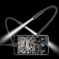 Camara video y grabacion remota para movil cable boroscopico endoscopico de 1 m 7mm 6 LED USB Impermeable inspeccionar visualizar accesos dificiles grabar visualizando NOVEDAD 2017 de OPEN BUY