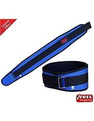 2Fit sports, levantamiento de pesas Fitness Training workout plumines de elevador de alimentación, Body Building Gym cinturón unisex Azul azul Talla:small
