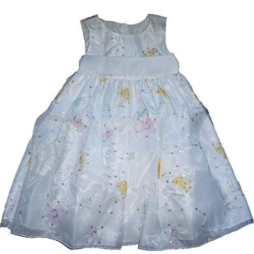 Cinderella festliches Kinder Mädchen Princess Kleid weiß mit Pailletten bestickt - Ralph Lauren-cover-set