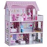 Blitzzauber 24 Puppenhaus Holzspielzeug Puppenstube Mädchen Puppenvilla Dollhouse 3 Etagen