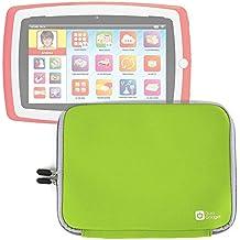 Custodia In Neoprene Verde per Tablet Lisciani Giochi Mio Tab Laptop Evolution HD, Special Edition - 57474 | Carotina Baby Tab - 43170 | Carotina Mio Tab Preschool 3.0 - 46065 - Resistente All'Acqua - DURAGADGET