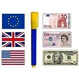 Rotulador detector de billetes falsos QTY 2