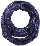 s.Oliver Mädchen Schal 73.808.91.3750, Blau (Dark Blue Aop 58b7), One Size (Herstellergröße: 1)