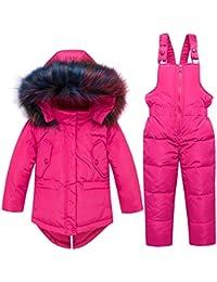 f78d71b28 J-TUMIA Chaqueta de Dos Piezas para bebés Varones con faldón y pantalón de  Peto para Esquiar en la Nieve Invierno…