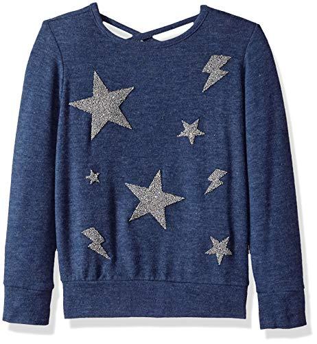 fecb0ffe24730 Freestyle Revolution Girls' FS4-54378-Stars Foxy Fleece Sweatshirt Heather  Denim, ...