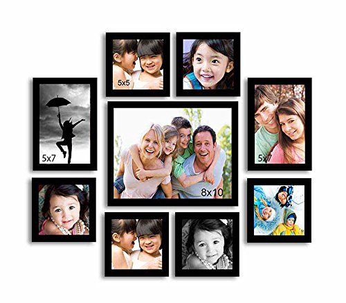 Painting Mantra Onmium black Photo frame - Set of 9...