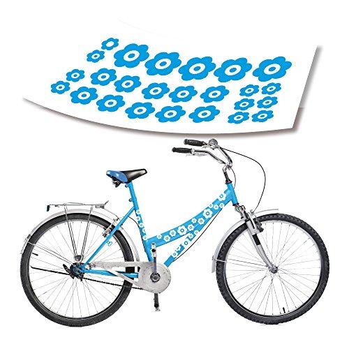 style4Bike Kinderrad Kinderfahrrad Blümchen Aufkleber im Kleinen Set Vielen Farben| S4B0116