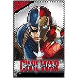 Marvel 2200001651150x 100cm Guerra Civil Capitán América Vs Iron Man Polar Manta De Forro Polar