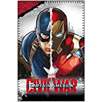 Marvel 2200001651 150 x 100 cm, Guerra Civile Capitan America Vs Iron Man coperta in pile