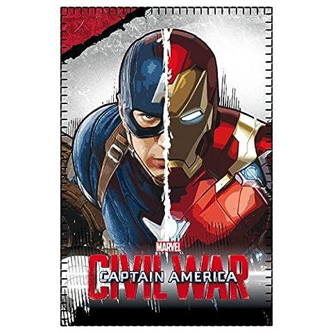 2200001651Marvel Iron Man Captain America VS Guerre Civile Couverture en polaire 150x 100cm