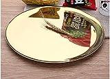 DDBBhome Edelstahl-Obstteller, Gold-Speicherplatte, Metall-Runde Farbe Titanplatte, Halloween-Süßigkeiten-Fach, Golden