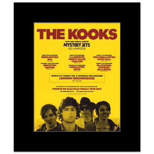 KOOKS - UK Tour Dec 2008 Matted Mini Poster - 30x24.2cm