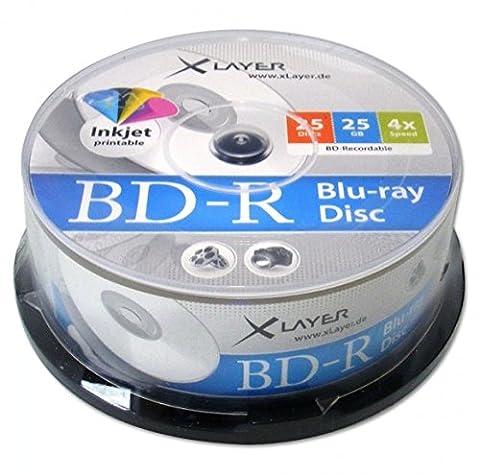 Xlayer BD-R Rohlinge (4x Speed, 25GB, 25-er Stück) (Bd-r Rohlinge)