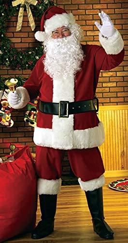 Santa Rubies Kostüm Anzug - Rubie's Erwachsene XL Deluxe Samt Santa Anzug Kostüm