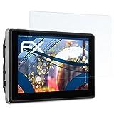 atFoliX Panzerfolie für Blaupunkt TravelPilot 53 2 CE EU LMU Folie - 3 x FX-Shock-Clear stoßabsorbierende ultraklare Displayschutzfolie