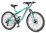 breluxx 26 Zoll Damen-Mountainbike Hardtail Venera Sport Marissa 21 Gang Shimano, Scheibenbremse Frontfederung MTB, inkl. Schutzbleche + Reflektoren, Modell 2019