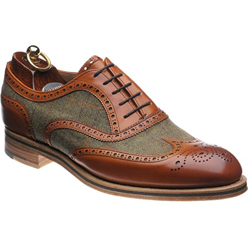 Herring Herring Bodmin II, Scarpe stringate uomo, (Chestnut Calf and Tweed), 42