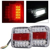 XCSOURCE 2 x 12V LED Caravan rimorchio del camion di arresto Indicatore posteriore della coda di inverso lampade chiare lampadine MA367