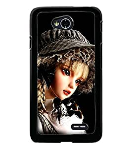 PrintDhaba Cute Girl D-1037 Back Case Cover for LG L90 (Multi-Coloured)