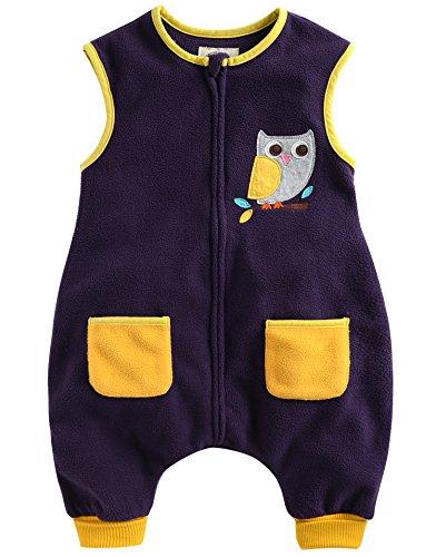 Vaenait Baby Kleinkinder Kinder Vlies Schlafsäcke Decke Yellow Owl M