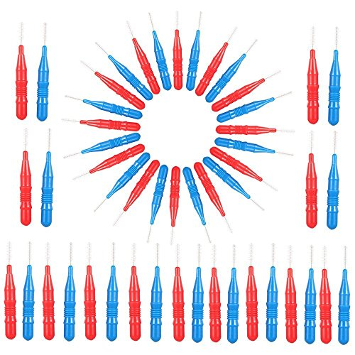 SGerste 50 Bürste für die Zahnzwischenräume Floss Head zwischen Zähne Bürste Dental Reinigungsbürste Zahn Pick 2.5mm 3.0mm