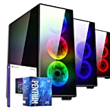 PC DESKTOP GAMING STARTDILC MERAK RGBLICENZA WINDOWS 10 PROASSEMBLATO COMPLETOCOMPUTER FISSO Intel G4600 fino a 3.6 GHZSK VIDEO GT1030 2GB OCRAM DDR4 8GBSSD 240GB + HDD BARRACUDA 1TB450W 80+