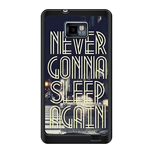 coques-iphone - Cover Never Gonna Sleep New York City per Samsung Galaxy S2 Di Javier Martinez - Contour Nero