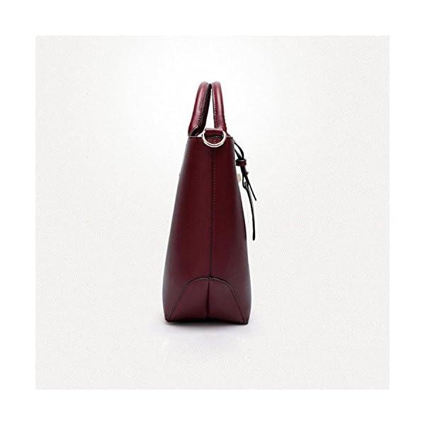 LACIRA Women s Stylish Designer Hard Leather Handbag(Wine Red) 956de78424