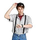labeobarbus Herren Marty McFly Shirt Gr. Medium, weiß