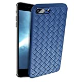 Slynmax Coque iPhone 8 Plus Bleu Coque iPhone 7 Plus Silicone TPU Souple Bumper Case...