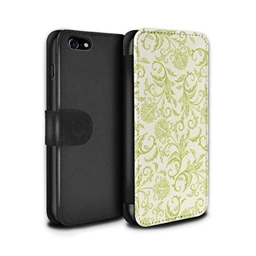 Stuff4 Coque/Etui/Housse Cuir PU Case/Cover pour Apple iPhone 8 / Fleurs Rouges Design / Fleurs Collection Fleurs Jaunes