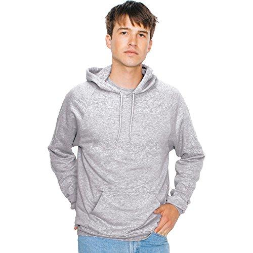american-apparel-da-uomo-california-100-cotone-felpe-con-cappuccio-uomo-heather-grey-xs-chest-32-34-