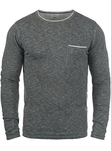 REDEFINED REBEL Maverick Herren Strickpullover Rundhalsausschnitt Antracit Grey