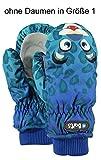 Barts Unisex Baby Handschuhe Nylon Mitts, Blu (Leopard Blu 42), One Size