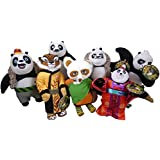 Set Of 7 - 24cm Dreamworks Kung Fu Panda 3 Soft Toys